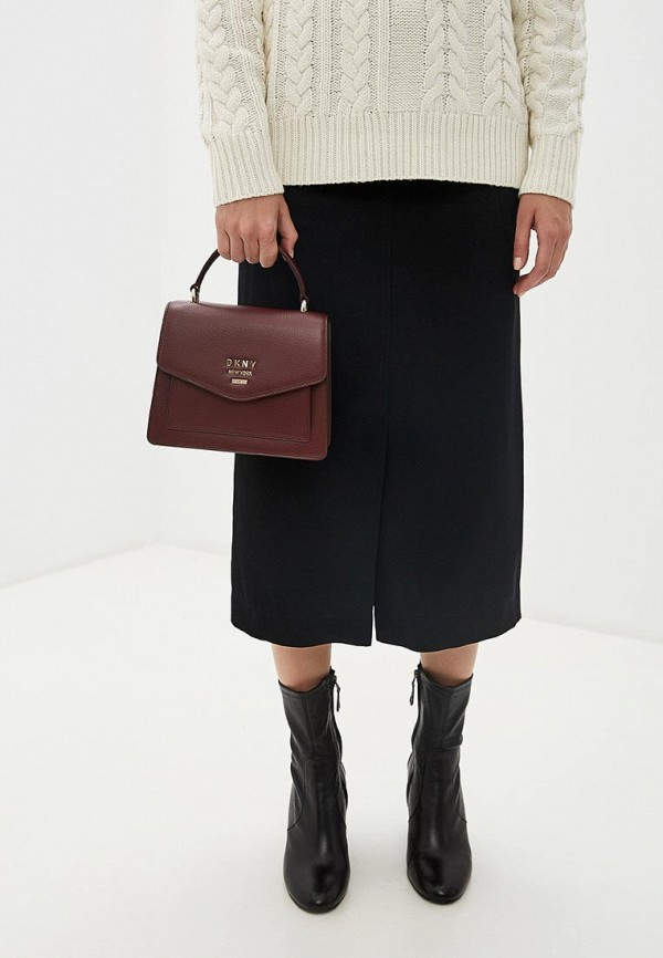 Фото 6 - женскую сумку DKNY бордового цвета