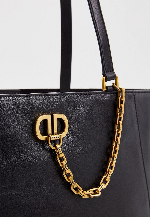 Фото 3 - женскую сумку DKNY черного цвета