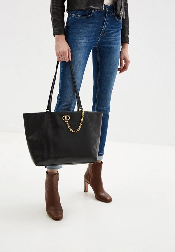 Фото 5 - женскую сумку DKNY черного цвета