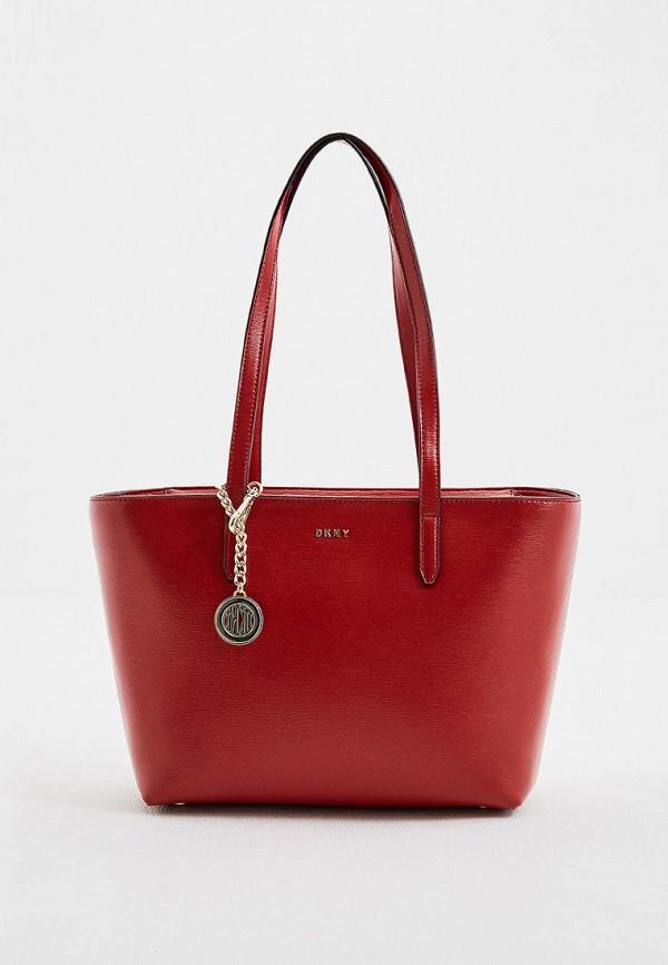 женская сумка dkny, красная