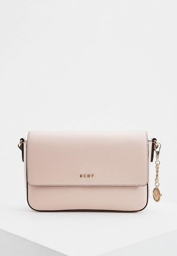 женская сумка dkny, розовая