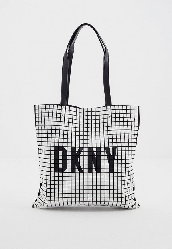 женская сумка dkny, белая