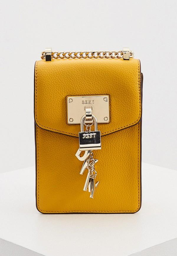 женская сумка dkny, желтая
