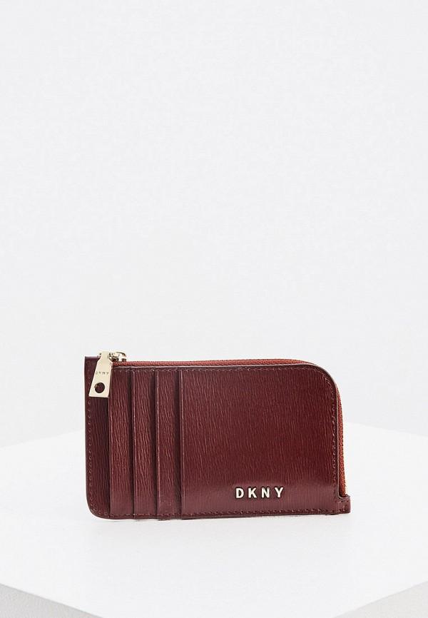 женский кошелёк dkny, бордовый