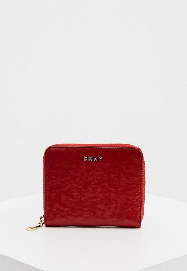 женский кошелёк dkny, красный