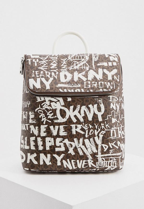 женский рюкзак dkny, коричневый