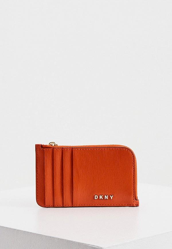 женский кошелёк dkny, оранжевый