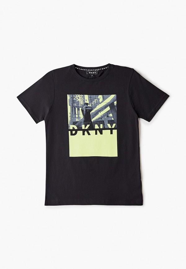 футболка с коротким рукавом dkny для мальчика, черная