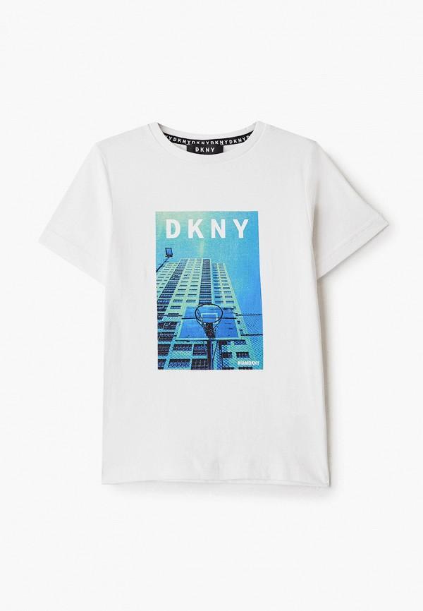 футболка с коротким рукавом dkny для мальчика, белая