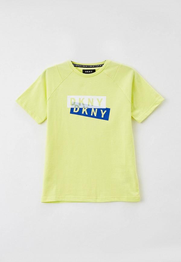 футболка с коротким рукавом dkny для мальчика, зеленая
