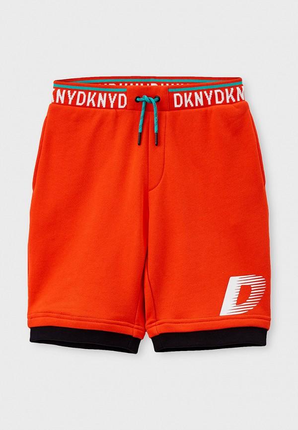 спортивные шорты dkny для мальчика, оранжевые