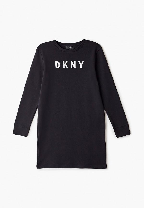 повседневные платье dkny для девочки, черное