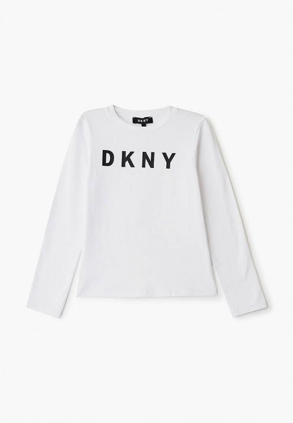 лонгслив dkny для девочки, белый