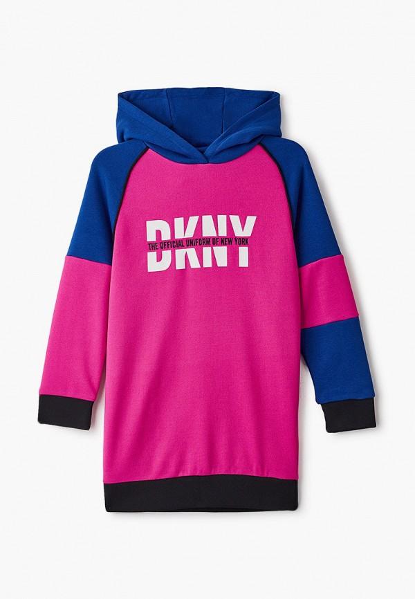 повседневные платье dkny для девочки, розовое