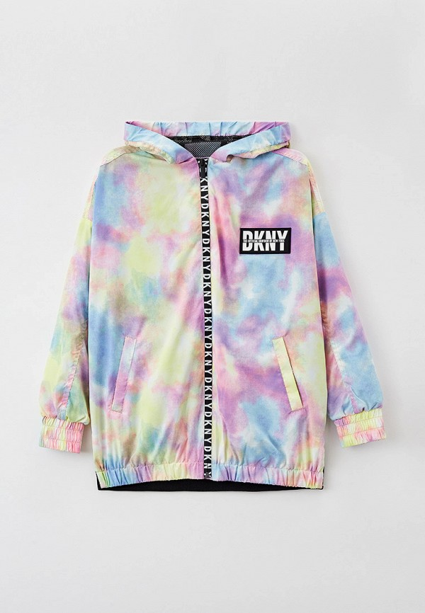 ветровка dkny для девочки, разноцветная