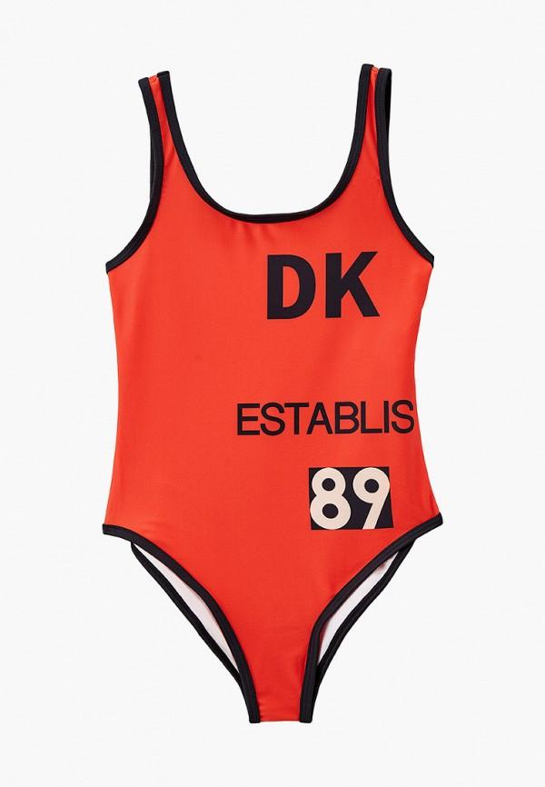 купальник dkny для девочки, оранжевый