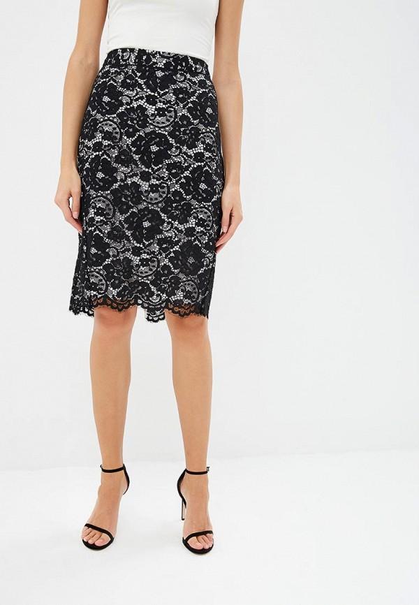 женская прямые юбка dkny, черная