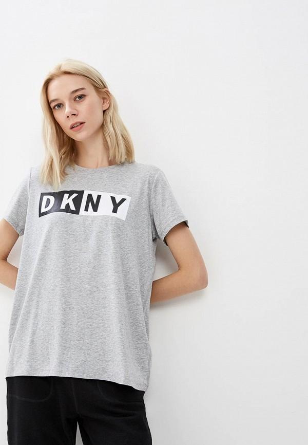 женская футболка dkny, серая
