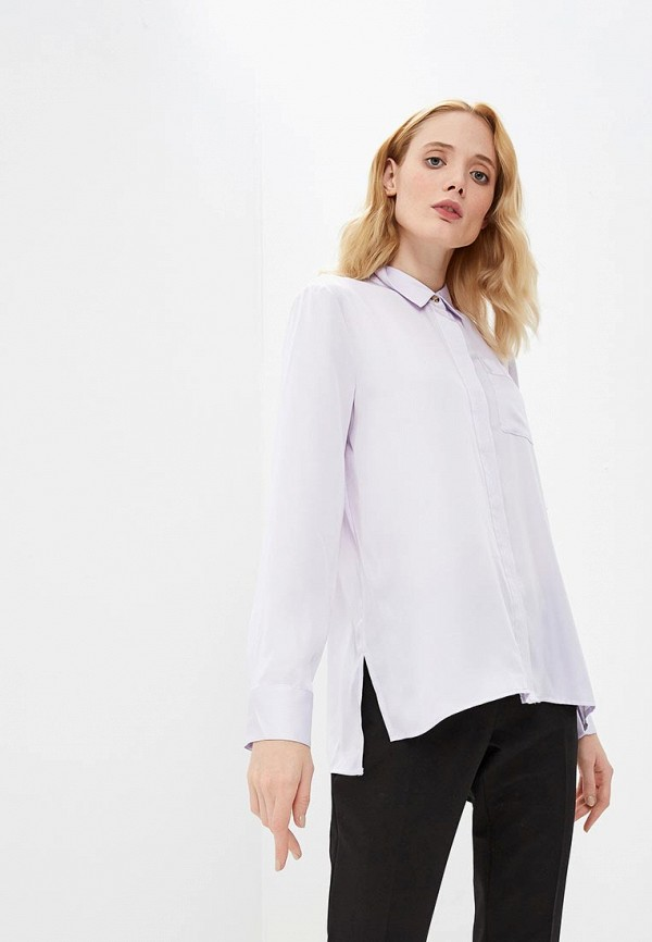 женская блузка dkny, фиолетовая