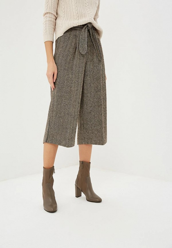 женские повседневные брюки dkny, коричневые