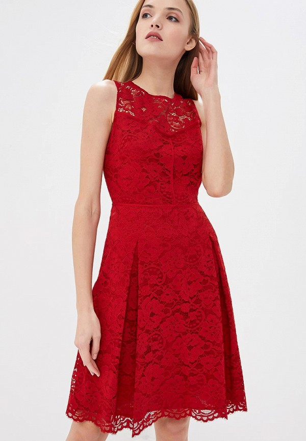 женское повседневные платье dkny, красное