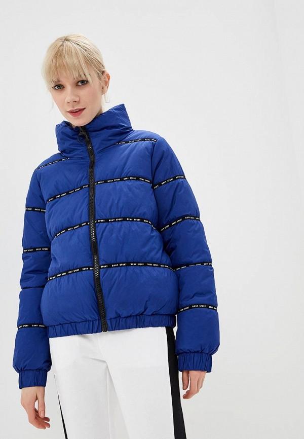 женская куртка dkny, синяя