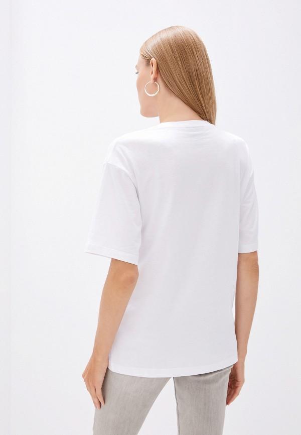 Фото 3 - женскую футболку DKNY белого цвета