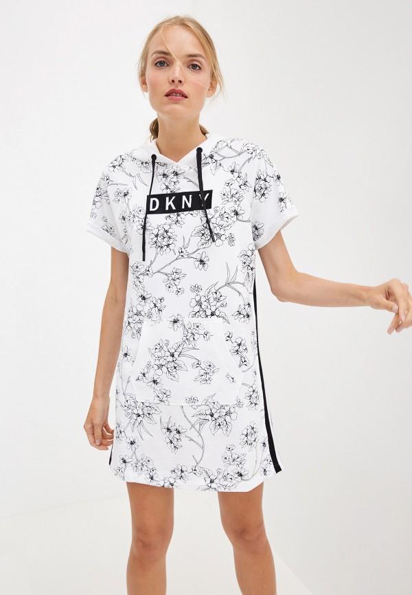 женское платье dkny, белое