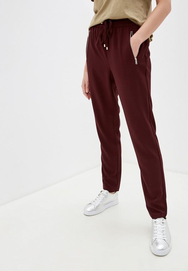 женские классические брюки dkny, бордовые