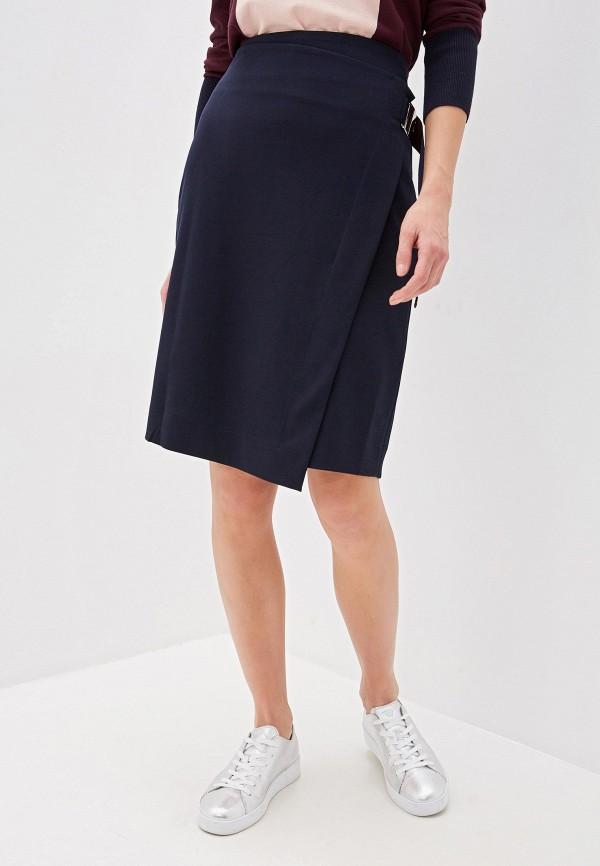 женская прямые юбка dkny, синяя