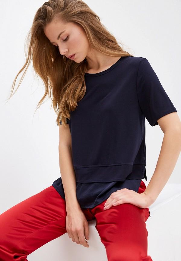 женская футболка dkny, синяя