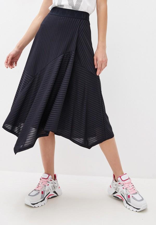 женская юбка dkny, синяя