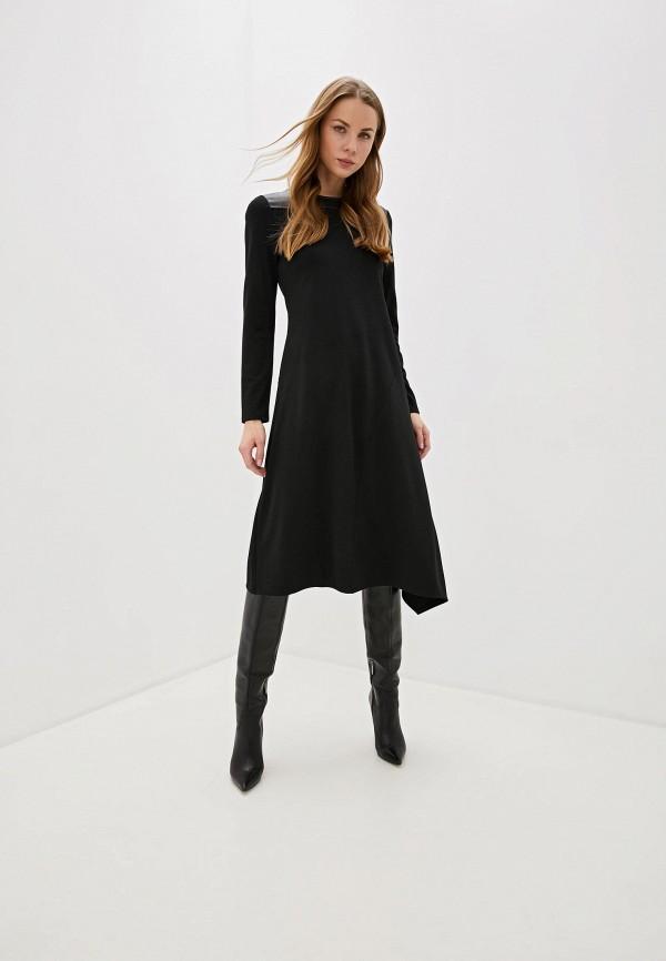 Фото 2 - женское повседневное платье DKNY черного цвета