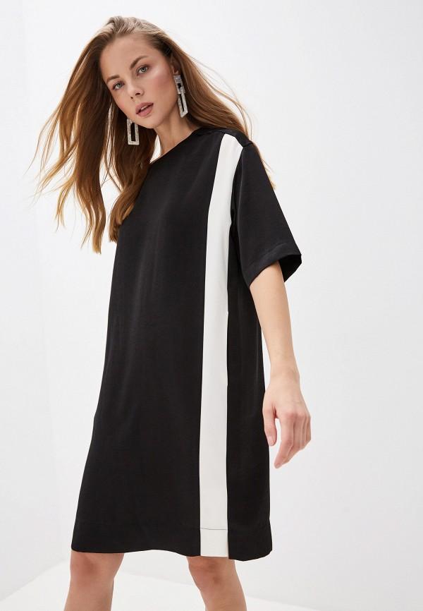 женское повседневные платье dkny, черное