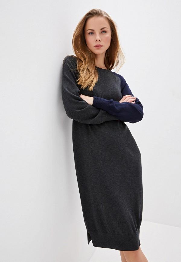 женское повседневные платье dkny, серое