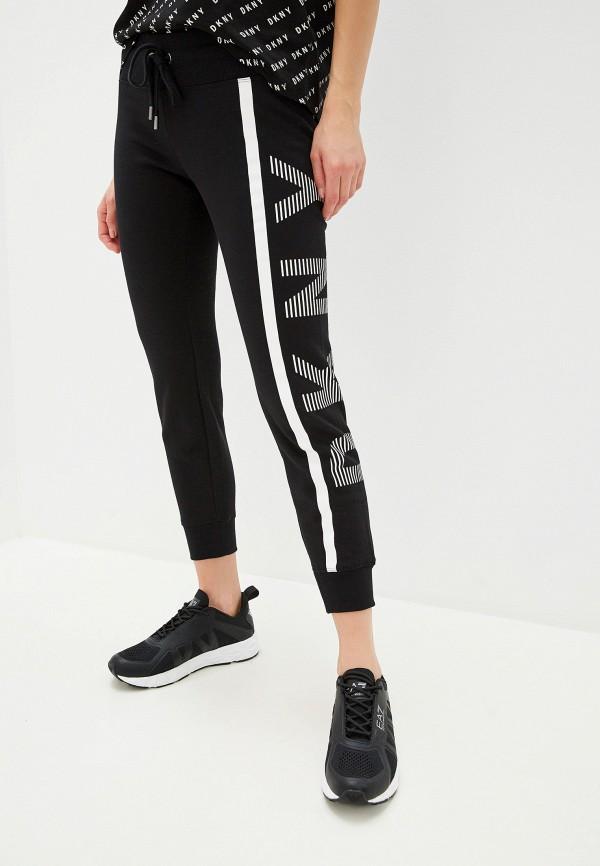 женские спортивные спортивные брюки dkny, черные