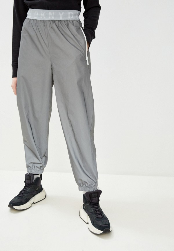 женские брюки dkny, серебряные
