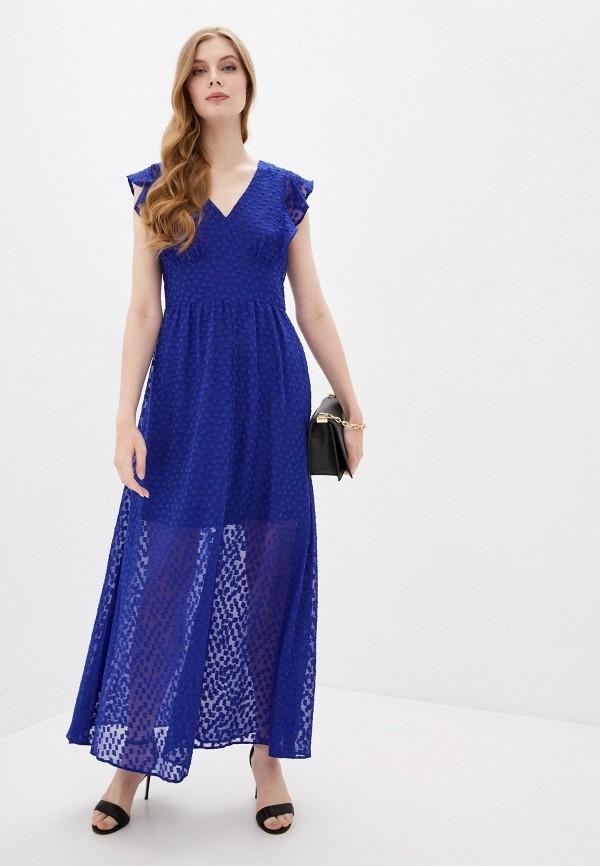 женское повседневные платье dkny, синее