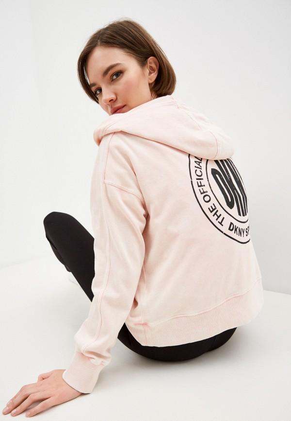 женские худи dkny, розовые