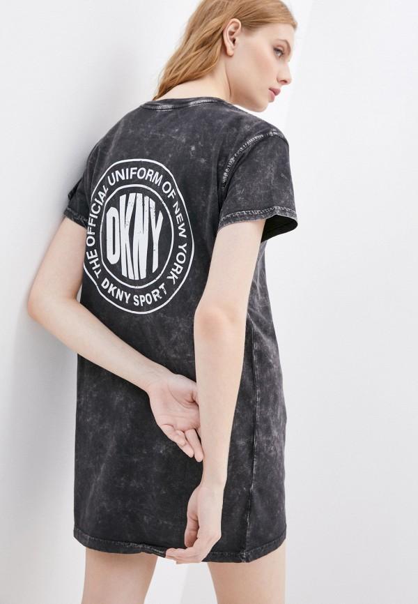 женское платье dkny, черное
