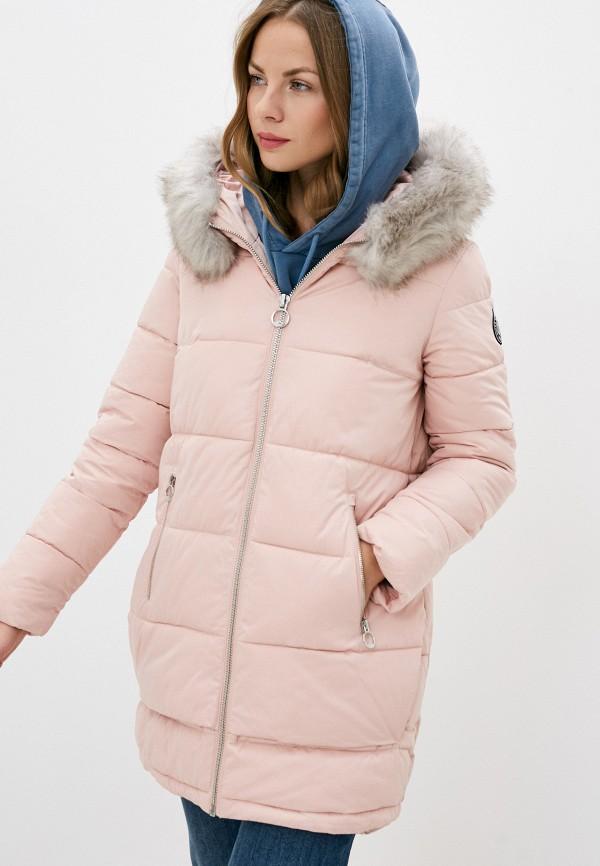 женская куртка dkny, розовая
