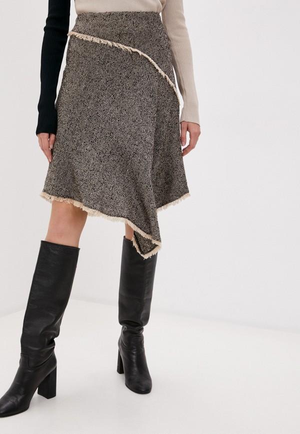 женская юбка dkny, бежевая
