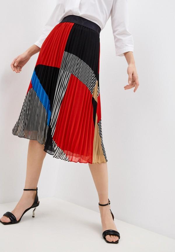женская юбка dkny, разноцветная