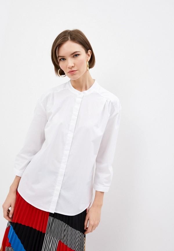женская рубашка с длинным рукавом dkny, белая