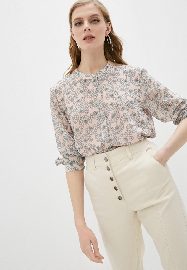 женская блузка dkny, розовая