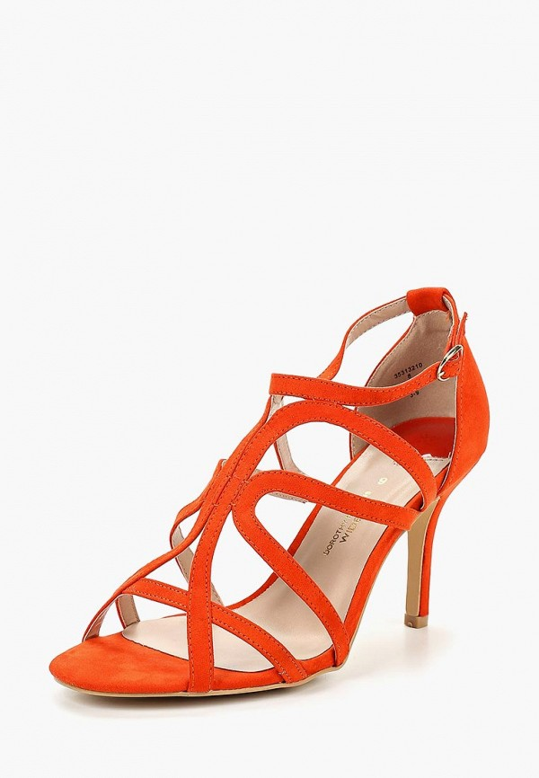 Фото 7 - женские босоножки Dorothy Perkins оранжевого цвета