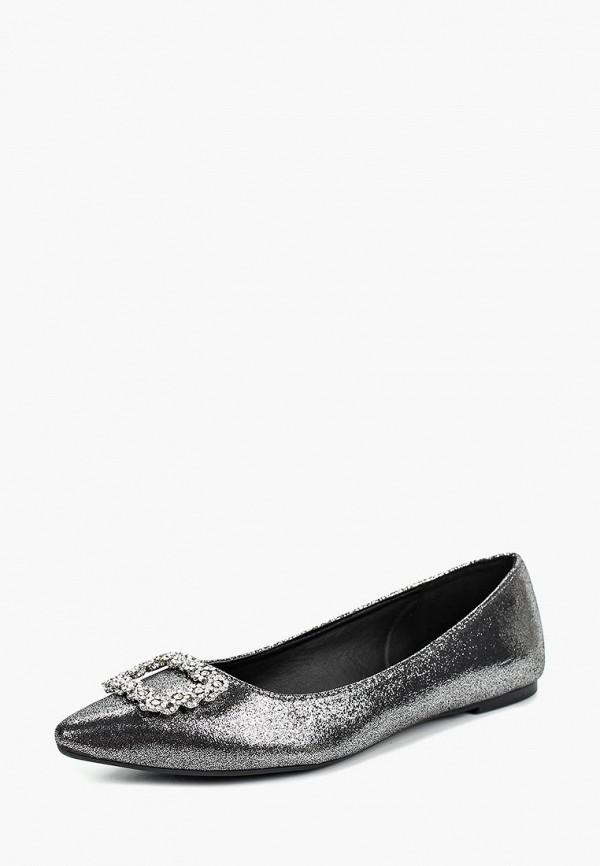 женские балетки dorothy perkins, серебряные