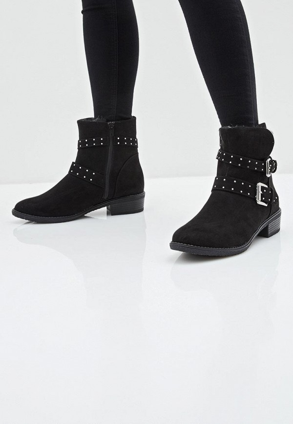 Фото 13 - женские ботинки и полуботинки Dorothy Perkins черного цвета