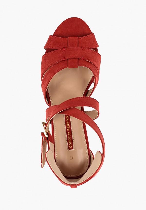 Фото 4 - женские босоножки Dorothy Perkins красного цвета