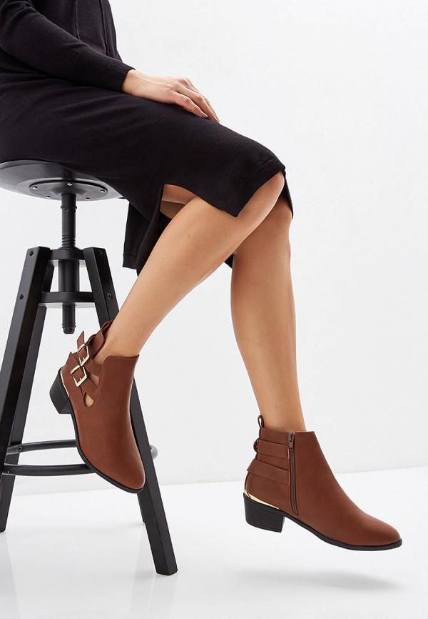 Фото 6 - женские ботинки и полуботинки Dorothy Perkins коричневого цвета